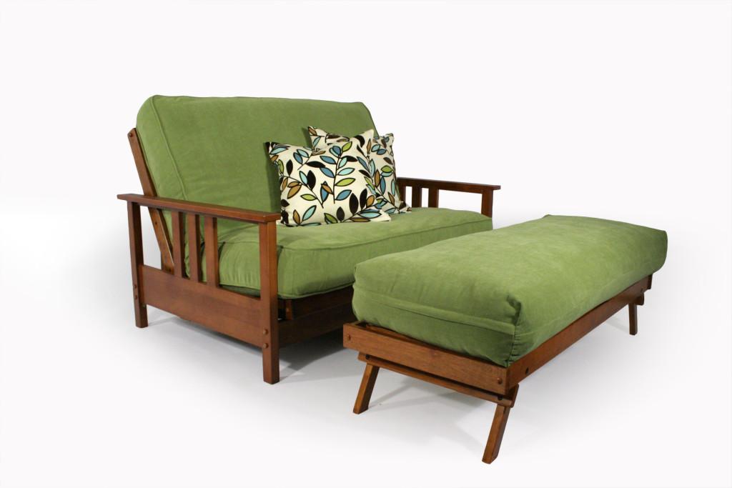 Durango Love Seat Ottoman Wallhugger Futon Frame Right Futons Waterbeds
