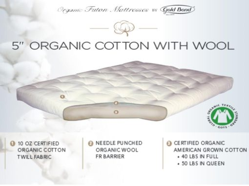 """5"""" Organic Cotton and Wool"""