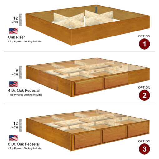 Oak Pedestal Options